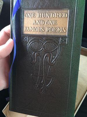 One hundred and one Famous Poems -with prose supplement 1929 for Sale in Oceanside, CA