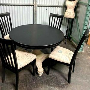 Rustic Dining Table W/4 Dining Chairs for Sale in San Jose, CA