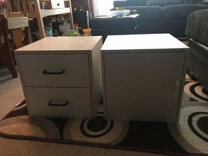 """White furniture cabinets 15""""/15"""" for Sale in Downers Grove, IL"""