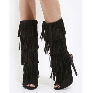 Peep toe fringe heels for Sale in Manchester, CT