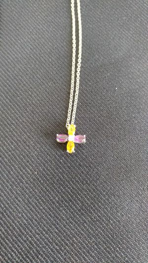Citron amathist diamond necklace for Sale in Spokane, WA