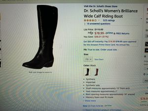 Dr. Scholl's women's tall wide calf riding boots for Sale in Hialeah, FL