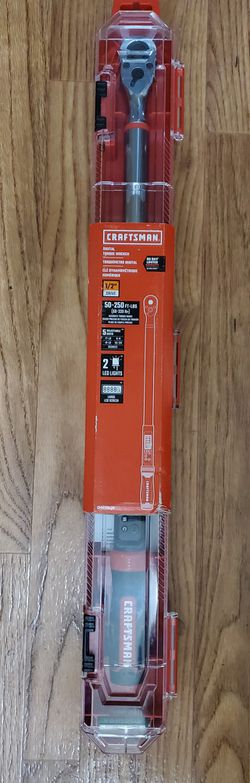 BRAND NEW, 50-250 FT-LBS,Craftsman, Type: Electronic Torque Wrench, Drive Size: 1/2 in,  CMMT99436, NUEVO for Sale in Henderson,  NV