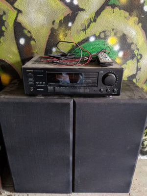 """Onkyo stereo and floor speakers, 15"""" subs, working good for Sale in Ridgefield, WA"""