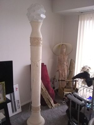 Floor lamp plaster plastic shade for Sale in Franconia, VA