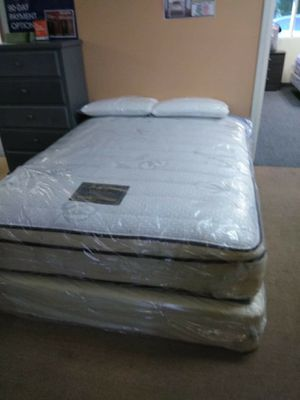 Brand nee bed frame with mattress full size set for Sale in Anaheim, CA