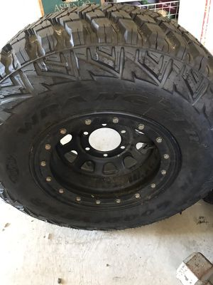 Goodyear wrangler tire with rim for Sale in San Francisco, CA