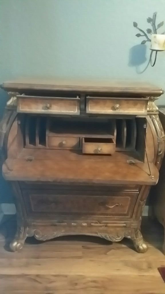 Antique Bombay Secretary desk/chest