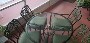 Patio furniture set iron paid $1,400 for Sale in Clearwater, FL