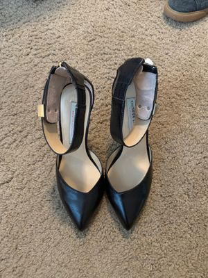 Black pointy heels with strap size 7.5 for Sale in Lorton, VA