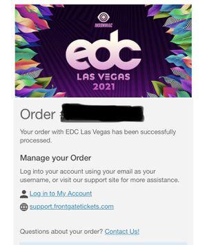 EDC Las Vegas 2021 GA tickets for Sale in Menifee, CA
