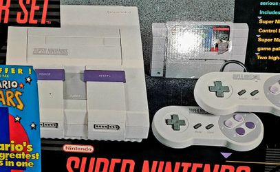 Super Nintendo 🎮 W/ Box With 9 Games WILL TRADE FOR POKEMON Mario Donkey Kong Yoshi SNES Paint for Sale in Dayton,  OR