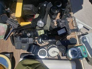 Lot of photo equipment lenses and other accessories for Sale in Las Vegas, NV