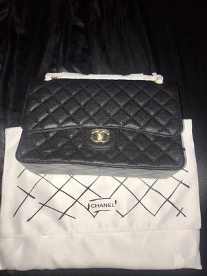 Chanel caviar leather flap bag for Sale in The Bronx, NY