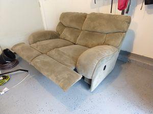 Recliner loveseat microfiber couch for Sale in Ashburn, VA