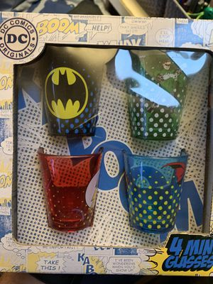 Justice League shot glasses for Sale in Buena Park, CA