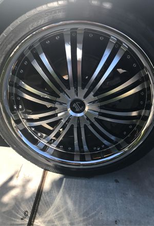 "Selling tires and rims currently on a 2011 Toyota Camry tires are OK condition one of the tires needs to be replaced good tires size 20"" for Sale in Hollister, CA"