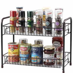 Spice Rack Organizer for Countertop 2 Tier Counter Shelf Standing Holder Storage for Kitchen Cabinet for Sale in Burlington, NC