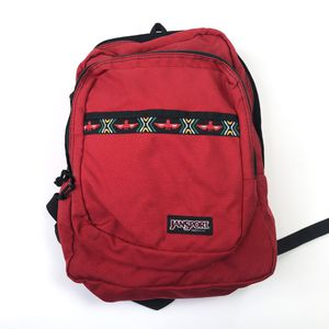 Jansport VTG 90s USA MADE Red Aztec Tribal Print School Book Bag Backpack for Sale in Mundelein, IL