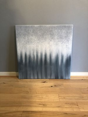 Grey, blue, white oil painting pick up only for Sale in Issaquah, WA