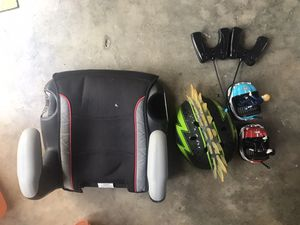Booster seat, helmet and set of bumper cars for Sale in Miami, FL