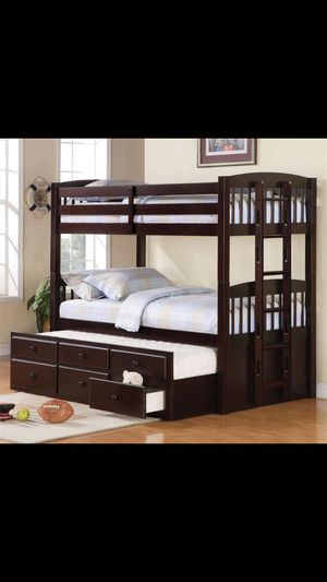 Bunk bed with drawers and third bed for Sale in Orlando, FL