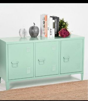 Matapouri 3-Doors Green Metal Accent Cabinet TV Stand With Storage for Sale in Houston, TX