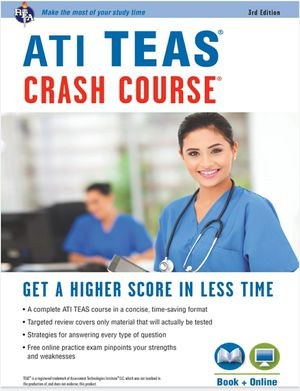 ATI TEAS Crash Course REA's ATI TEAS Crash Course Perfect for nursing and allied health 9780738612270 eBook PDF Free instant delivery for Sale in Ontario, CA