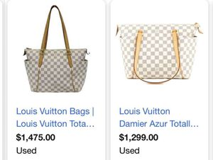 Louis Vuitton white Damier hand bag 100% authentic for Sale in Milpitas, CA