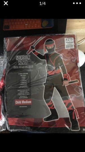 Shadow Ninja (ninja de las sombras) costume PartyCity $ for Sale in Los Angeles, CA