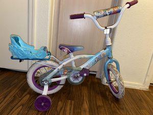 """Disney Frozen 12"""" Girls Bike with Doll Carrier by Huffy for Sale in Phoenix, AZ"""