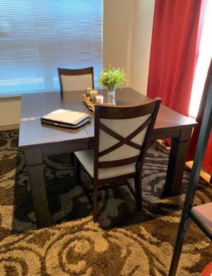 REAL Black Walnut Wood Dining Table Set for Sale in San Angelo, TX