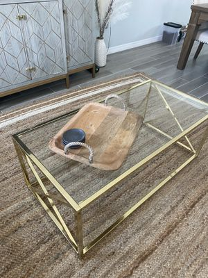 Sleek Gold Coffee Table for Sale in Pensacola, FL