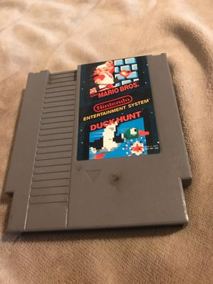 Nintendo game nes Duck hunt and super Mario bros Just $4 $3 for shipping for Sale in Westford, MA