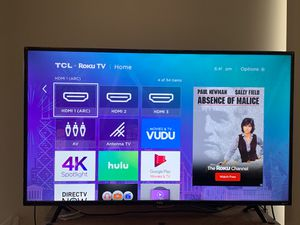 55 inch 4K Roku Smart TV - TCL - Barely used (edges still plastic wrapped) for Sale in Vienna, VA
