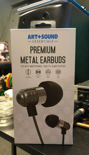 Art + Sound Premium Metal Earbuds for Sale in Waterbury, CT