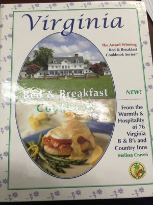 Virginia. Bed &breakfast cook book for Sale in Manassas, VA