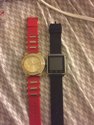 Q7 Smartwatch and Charles Raymond gold and red watch for Sale in Washington, DC
