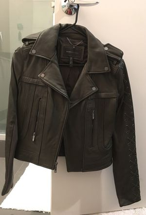 Bcbg maxazria leather jacket for Sale in Denver, CO