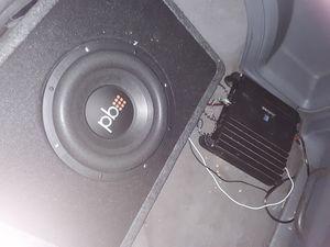 BP 10 inch sub box and Alpine 550 amp for Sale in Alexandria, LA