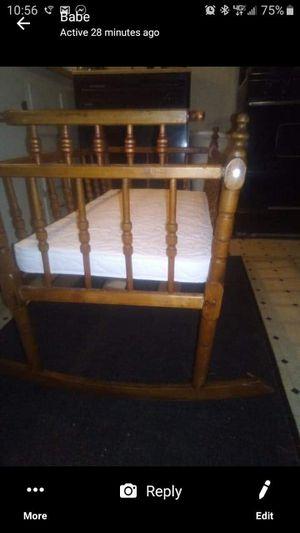 Antique wooden baby cradle for Sale in Loganton, PA