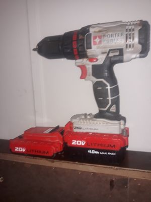 20v porter cable drill, 2 batteries for Sale in Greensboro, NC