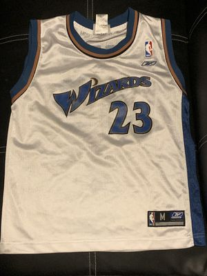 Michael Jordan Washington Wizards Jersey #23 Reebok White Youth Medium (10-12) for Sale in Euclid, OH
