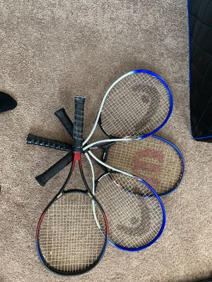 4 tennis rackets for Sale in Garner, NC