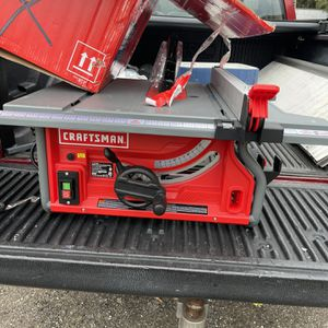 Craftman 15 Amp Table Saw With Stand It Turns On But Sometimes It Does Not As Is No Less 50 Cash Takes It for Sale in Plant City, FL