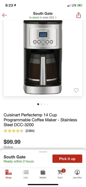 Cuisinart 14 cup programable coffee maker for Sale in Bell, CA