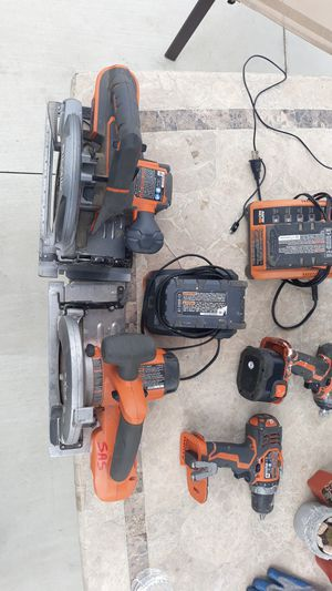 3 batteries 2 skill saws 1 hammer drill 1. Impact for Sale in San Diego, CA