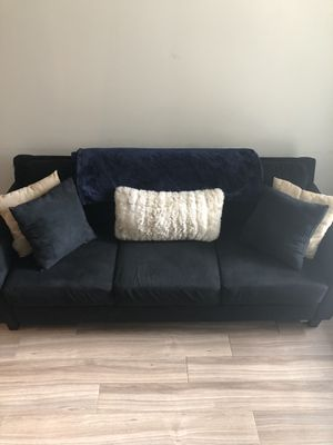 All Black Suede Sofa for Sale in Silver Spring, MD