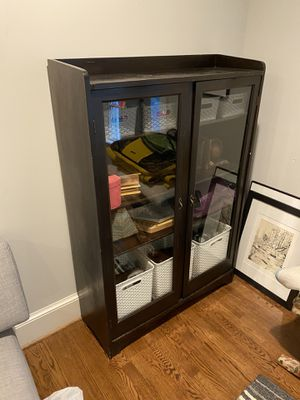 Antique armoire cabinet with locking doors and key for Sale in Alexandria, VA