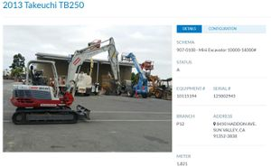 2013 Takeuchi Compact Excavator for Sale in Los Angeles, CA